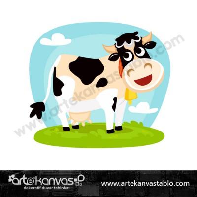 İnek Çiftlik Hayvanı Dekor Pano