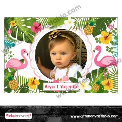 Fotoğraflı Magnet Flamingo Temalı