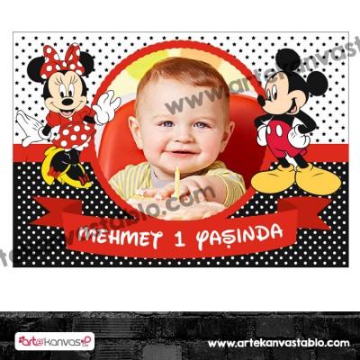Fotoğraflı Magnet Mickey Mouse Temalı