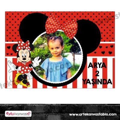Fotoğraflı Magnet Minnie Mouse Temalı