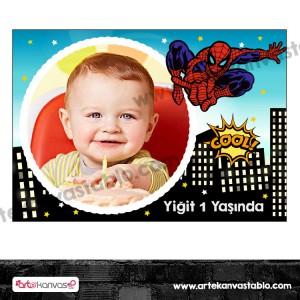 Fotoğraflı Magnet Örümcek Adam - Spiderman Temalı