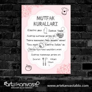 Mutfak Kuralları Desenli