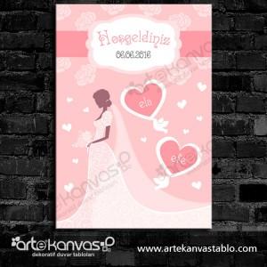 Düğünümüze Hoşgeldiniz Misafir Karşılama Panosu