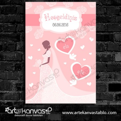 Düğünümüze Hoşgeldiniz Misafir Karşılama Panosu 0101