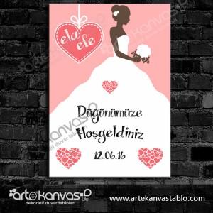 Düğünümüze Hoşgeldiniz Misafir Karşılama Panosu 0114