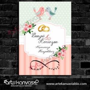 Düğün Nişan  Misafir Karşılama Panosu