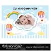 Doğum Günü Pano/Branda Afiş Sıcak Hava Balon Temalı