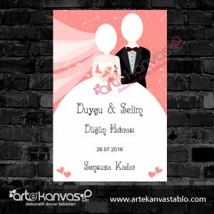 Düğün Hatırası Cut Out Misafir Karşılama Panosu