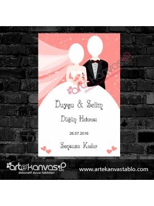 Düğün Hatırası Misafir Karşılama Panosu
