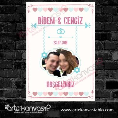 Düğün Nişan Misafir Karşılama Panosu 0151