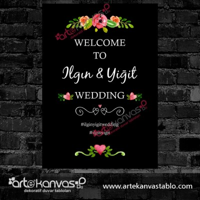 Düğün Nişan Misafir Karşılama Panosu 0155