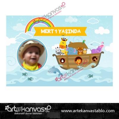 Nuh un Gemisi Temalı Pano/Branda Afiş