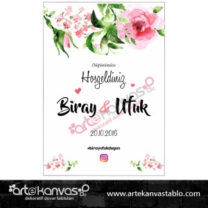 Düğün Nişan Misafir Karşılama Panosu 0160