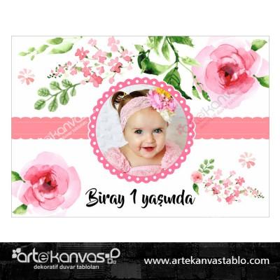 Çiçek Temalı Fotoğraflı Pano/Branda Afiş