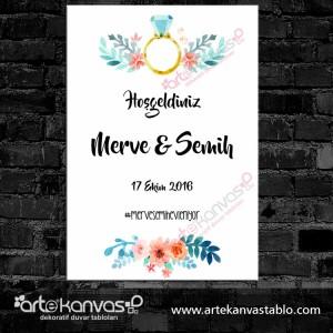 Düğün Nişan Misafir Karşılama Panosu 0186