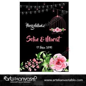 Düğün Nişan Misafir Karşılama Panosu 0187