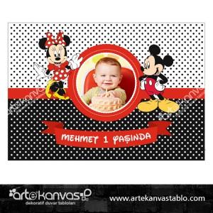 Mickey Mouse Tema Pano/Branda Afiş