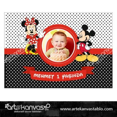 Doğum Günü Pano/Branda Afiş Mickey Mouse Tema