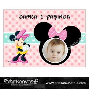 Minnie Mouse Tema Pano/Branda Afiş