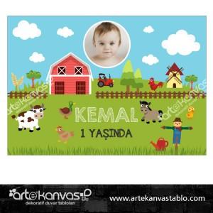 Çiftlik Temalı Doğum Günü Pano/Branda Afiş