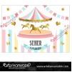Doğum Günü Pano / Branda Afiş Atlı Karınca Temalı
