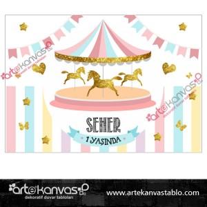 Atlı Karınca Temalı Doğum Günü Pano/Branda Afiş