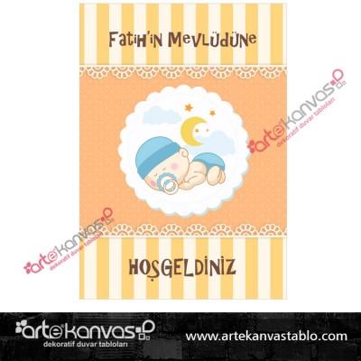 Bebek Tema Mevlüd Misafir Karşılama Pano/Branda Afiş
