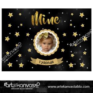 Yıldız Temalı Doğum Günü Pano/Branda Afiş