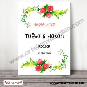 Düğün Nişan Misafir Karşılama Panosu 0219