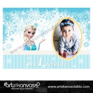 Elsa Frozen Temalı Fotoğraflı Pano/Branda Afiş
