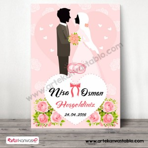 Düğün Nişan Misafir Karşılama Panosu 0244