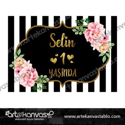 Çiçek Tema Pano/Branda Afiş