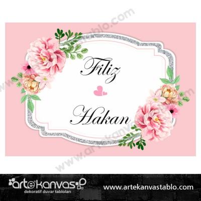 Düğün Nişan Misafir Karşılama Panosu 0271