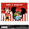 Doğum Günü Pano/Branda Afiş Minnie Mouse Tema