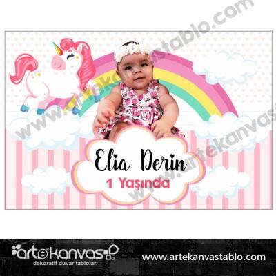 Unicorn Temalı Pano/Branda Afiş Little Pony