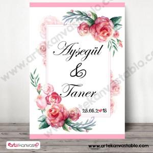 Düğün Nişan Misafir Karşılama Panosu 0335