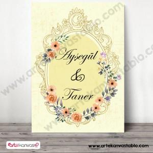 Düğün Nişan Misafir Karşılama Panosu 0337