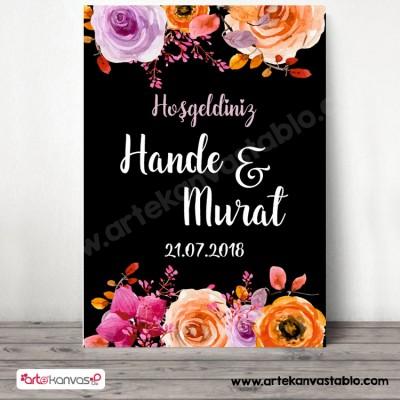 Düğün Nişan Misafir Karşılama Panosu 0365