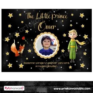 Doğum Günü Pano / Branda Afiş Küçük Prens Little Prince Temalı