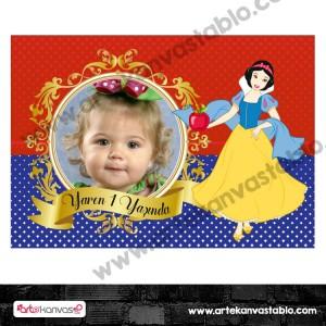 Doğum Günü Pano / Branda Afiş Pamuk Prenses Temalı