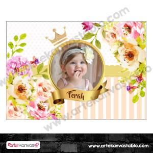 Doğum Günü Pano/Branda Afiş Çiçek Temalı