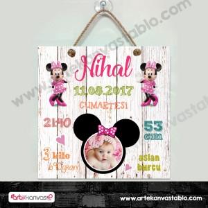 Bebek Doğum Hatırası Minnie Mouse