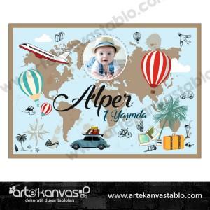 Doğum Günü Pano / Branda Afiş Gezgin Seyahat Travel Tatil Temalı