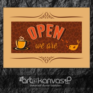 We Are Open Kanvas Tablo