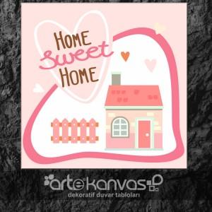 Evim Güzel Evim Kanvas Tablo
