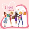 I Love Shopping Kanvas Tablo