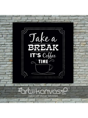 Coffee Time Kanvas Tablo