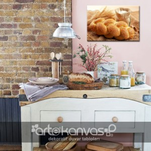 Susamlı Ekmek Kanvas Tablo