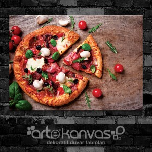 Pizza Kanvas Tablo