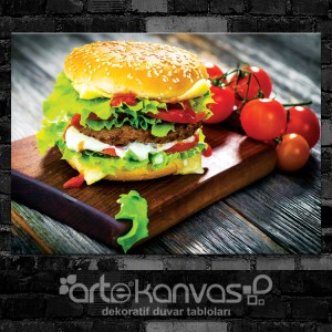 Hamburger Kanvas Tablo